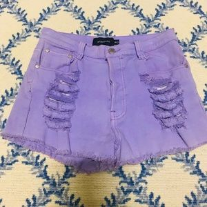 Minkpink purple jean shorts